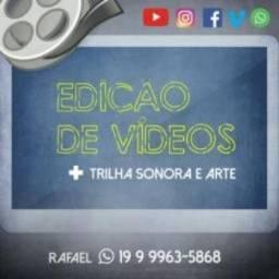 Edição De Vídeo Profissional + Trilha sonora + Arte