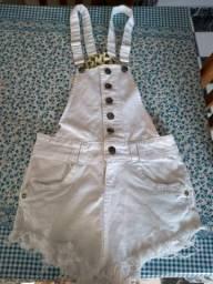 Jardineira jeans com Lycra n 40 $15