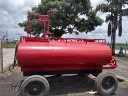Tanque Agrícola 4000 Litros com Kit Bombeiro e Bomba Andrade - Ótimo Preço