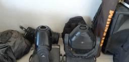 Moving profissional, mesa DMX 192, mais dois canhão Glow. Zap *