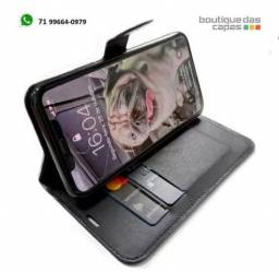 Capa couro carteira livro iphone 11 11 pro 11 pro max
