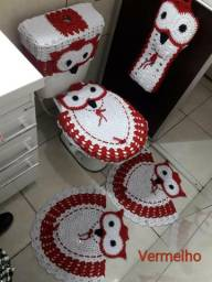 Jogo de crochê para banheiro