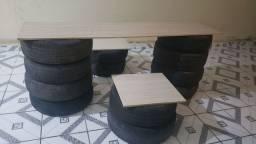 Mesas e bancos reciclado, retirar em sobradinho bahia *O