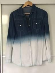 Camisa Jeans degradê azul