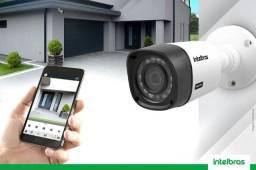 Instalação de câmeras de segurança e alarme