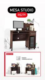 Mesa studio escrivaninha escritório barata