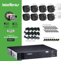Kit 8 Câmeras Intelbrás HD R$2.400,00