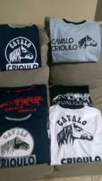 Camisetas cavalo crioulo