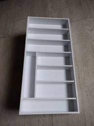 Organizador de talheres em MDF laca branco