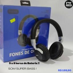 Headphone bluetooth 6 horas  - Loja PW STORE