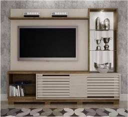 """Home Painel Para TV ate 65"""" Novo Com Espelho Luz Led"""