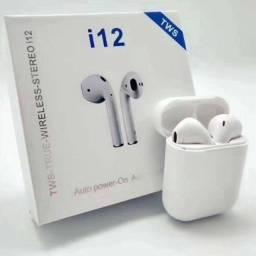 Fone de ouvido sem fio i12 - Cia do smart