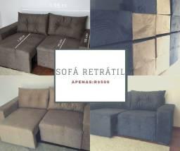 Título do anúncio: Sofá retrátil novo preço de fábrica R$ 599  *