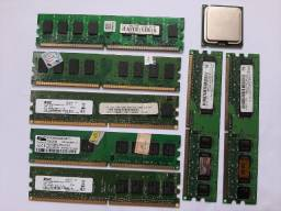 Título do anúncio: Oferta! 1 Processador Intel Pentium D 915 + 7 Pentes de Memória DDR2