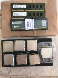 Memórias RAM 4gb e Processadores 1155, 1156 e 775.