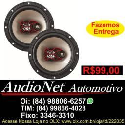 Par Alto Falante Triaxial Bravox 6 Polegadas B3x60x 100w Rms Carro Som Fone Porta
