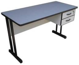 Mesa de escritório (2 Cavetas) / COR: Azul