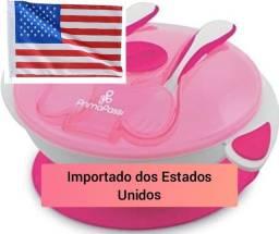 Primo Passi Tigela de sucção para bebês com utensílios, garfo e colher<br><br>
