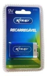 Bateria Recarregável 9V Knup