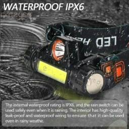 Lanterna Cabeça Led T6 Bateria Recarregável