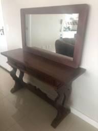 Aparador madeira maciça + espelho