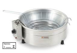 Fritadeira Industrial elétrica tacho inox 3.5L 100/200V