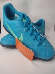 Chuteira Society Nike Beco 2 tf- azul.
