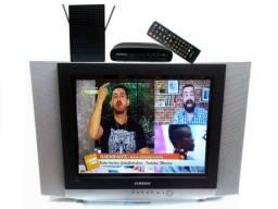 Tv Samsung Tela Plana + Conversor digital+ Antena+ controle remoto