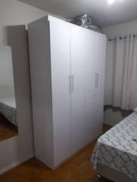 Guarda roupa branco 4 portas seminovo