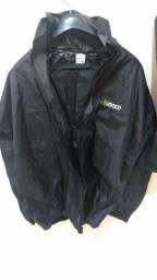 Conjunto capa para chuva, motociclista