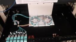 Fusão de fibra óptica e lançamento de cabos