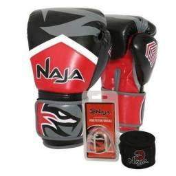 16a10ab6be Luva Boxe Muay Thai Naja New Extreme Vermelha