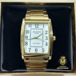 ee0a700f362 Relógio Importado Dourado em Aço Inoxidável Original a Prova D água