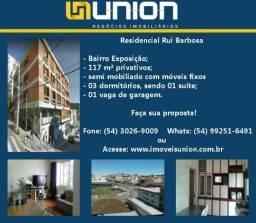 Oferta Imóveis Union! Apartamento semi mobiliado no bairro Exposição com 117 m² privativos