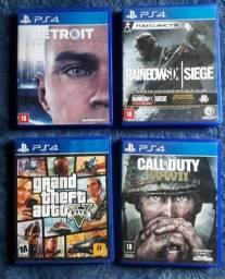 Kit com 4 jogos para PS4 por 300,00