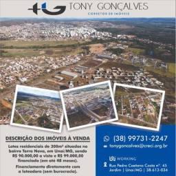 Lotes residenciais situados no bairro Terra Nova | Unaí/MG