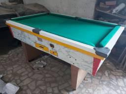 Snooker (Sinuca) usado (reformado) completa com 4 tacos,jogo de bola,ficheiro e relógio