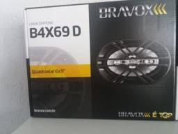 Alto falante Bravox 6x9 Novo quadraxial