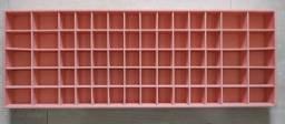 Super oferta - Organizador de calcinha e sutiã em MDF forrado com Suede salmão
