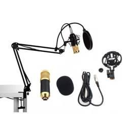 Kit Microfone Condesador Profissional & Estúdio KP-M0010