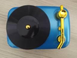 Caixa de Som Bluetooth top - Formato de Toca Disco