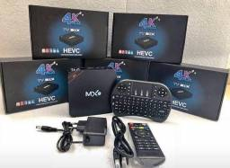 TV Box Mx9 + Mini Teclado Bluetooth de Led