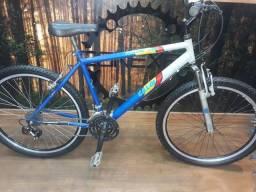 Bicicleta Aro 26 Caloi Cinza Azul Suspensao