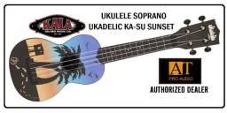 Ukulele Soprano Kala Ukadelic KA-SU-Sunset resistente à agua top na loja AT Proaudio!