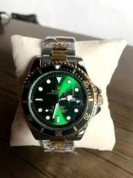 R$ 80 Relógio Rolex Verde - Aceito Cartão