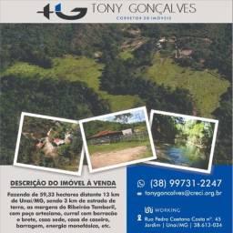 Fazenda de 59,33 hectares situada a 13 km de Unaí/MG