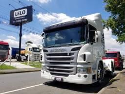 Scania P 360 ano 2014 Trucado 6x2 automático Lindo Unico dono com Retarder