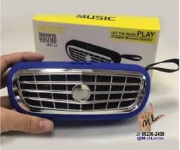 Caixa de Som speaker Mod: NBS-12 ótimo som 5WRMS x2 portátil bluetooth cartão TF