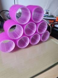Bobs com Velcro Rosa