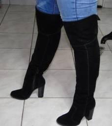 Bota cano longo feminino salto alto semi nova